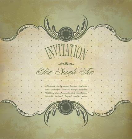 Grunge vintage invitation