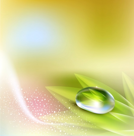 background with pastel colors with a drop of dew