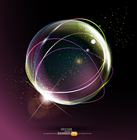 abstract space ball on a dark background