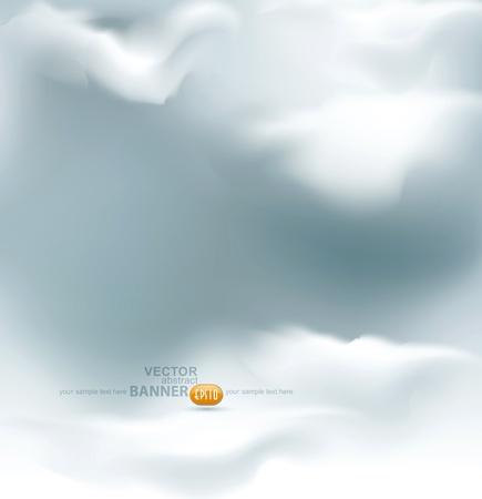 Illustration pour vector grey sky - image libre de droit