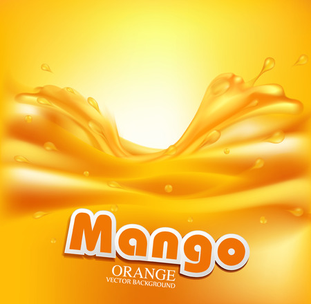 juicy vector background with splashes of orange juice
