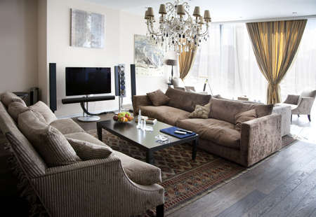 Interior shot of a modern lounge room