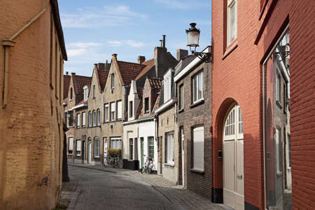A typical narrow streets of Brugge, Belgium