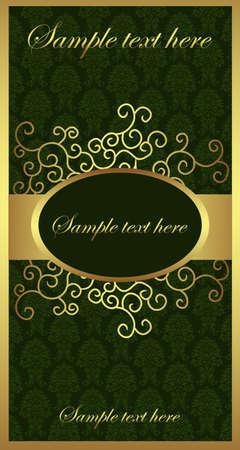 Illustration pour Golden Brochure - image libre de droit