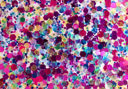 Photo for Sparkling and trandy holographic tinsels background. Festive concept. Place for design. - Royalty Free Image