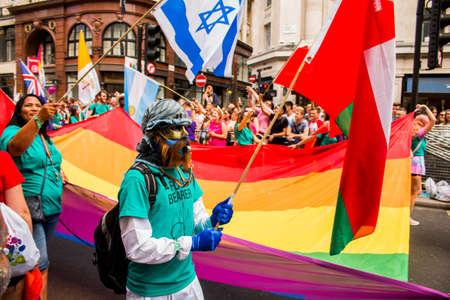 London LGBT+ Pride - Saturday July 8, 2017 - London, UK - Photo: ALLAN GREGORIO/123rf.com