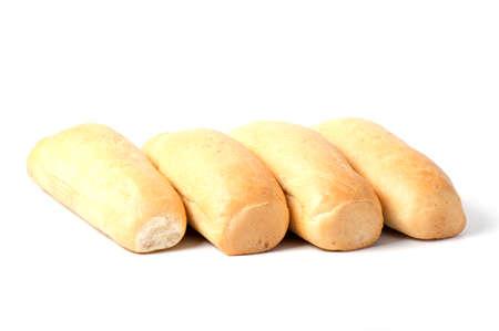 Foto für single loaf of fresh baked baguette bread isolated on white background - Lizenzfreies Bild
