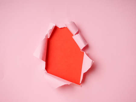 Photo for background with torn paper and place for your message, trending holes in paper. - Royalty Free Image