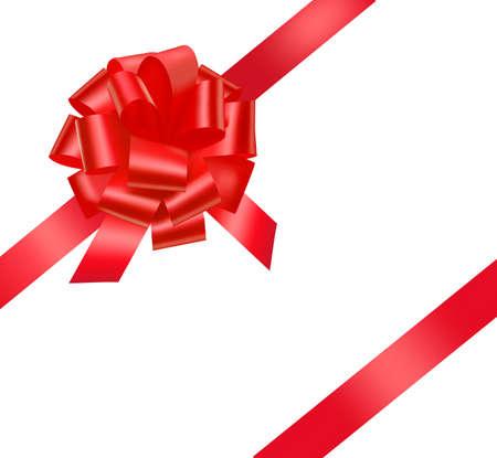 Illustration pour Beautiful red gift bow.  - image libre de droit
