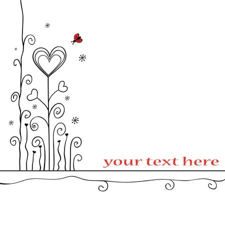 Hand-drawn love card