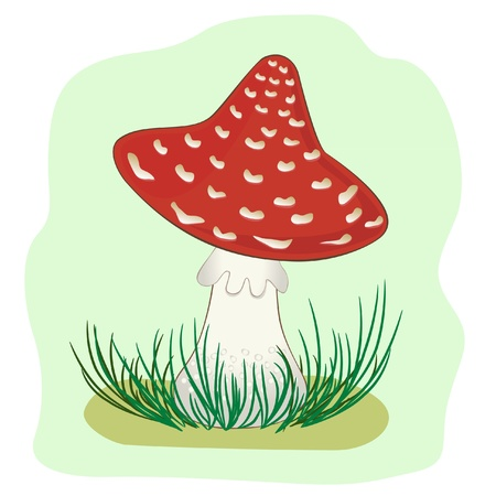 Illustration of Mushroom amanita
