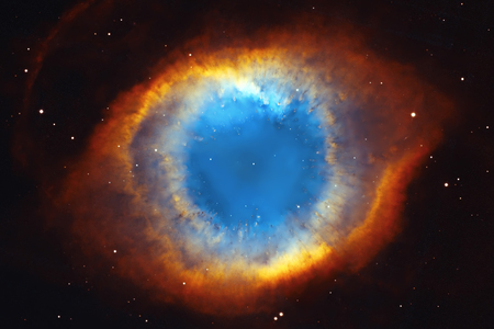 Foto de The Helix Nebula or NGC 7293 in the constellation Aquarius.  Elements of this image are furnished by NASA. - Imagen libre de derechos