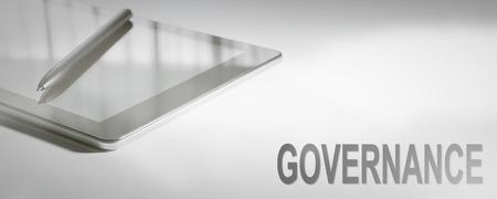 Photo pour GOVERNANCE Business Concept Digital Technology. Graphic Concept. - image libre de droit