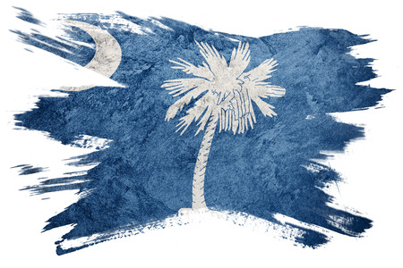 Photo pour Grunge South Carolina state flag. South Carolina flag brush stroke. - image libre de droit