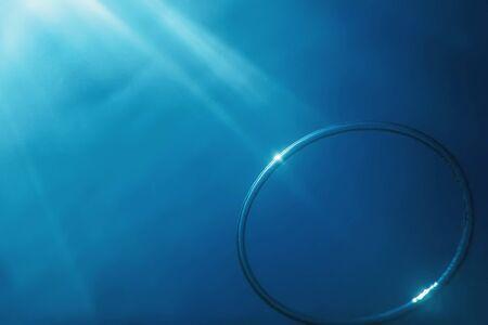 Foto de Bubble Ring Underwater ascends towards the Sun. - Imagen libre de derechos