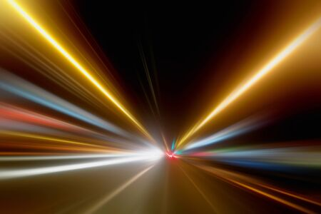 Photo for Light Trails in the Dark,Traffic Light Trails,AbstractTraffic Lines Background - Royalty Free Image