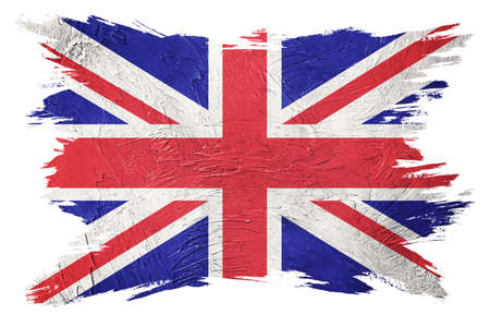 Foto de Grunge Great Britain flag. Union Jack flag with grunge texture. Brush stroke. - Imagen libre de derechos