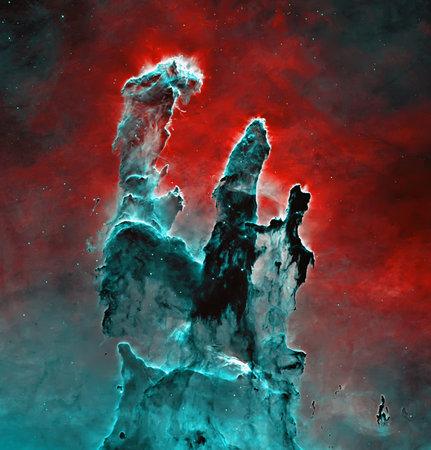 Photo for Pillars of Creation, Supernova Core pulsar neutron star. - Royalty Free Image
