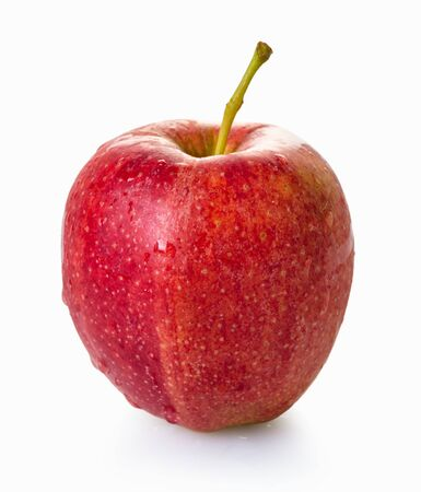 Photo for fresh red apple on white isolated background - Royalty Free Image