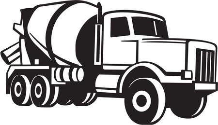 Illustration pour Cement Mixer Truck Vinyl Ready - image libre de droit