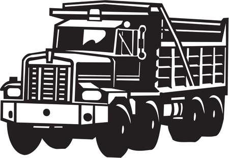 Illustration pour Dump Truck Vinyl Ready  - image libre de droit