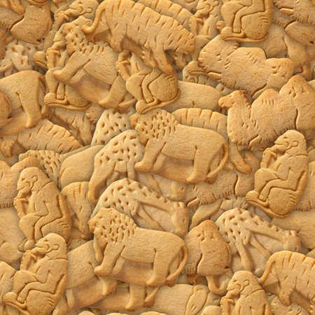 Animal Crackers Seamless Texture Tile