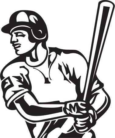 Baseball Batter Vinyl Ready Vector Illustration