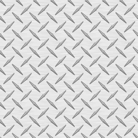 Silver Diamondplate Metal Seamless Texture Tile