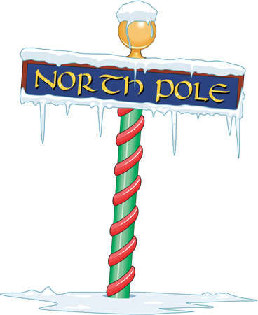 North Pole Sign Illustration