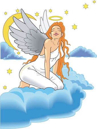 Angel illustration.