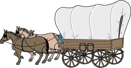 Covered Wagon Illustration