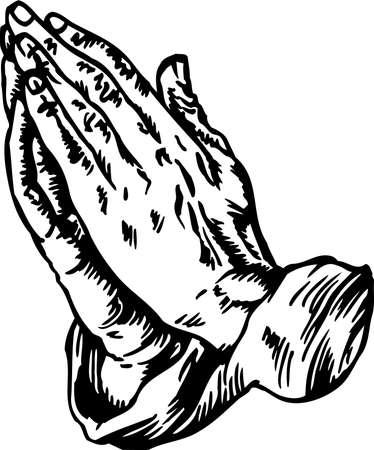Illustration pour Praying Hands Illustration. - image libre de droit