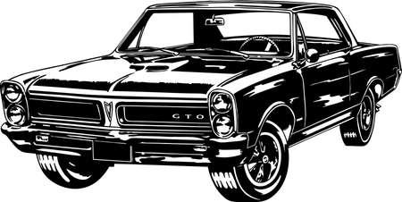 Ilustración de Classic car vector Illustration - Imagen libre de derechos