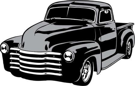 Illustration for Car Pickup Illustration - Royalty Free Image