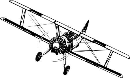 Photo for Biplane Illustration - Royalty Free Image