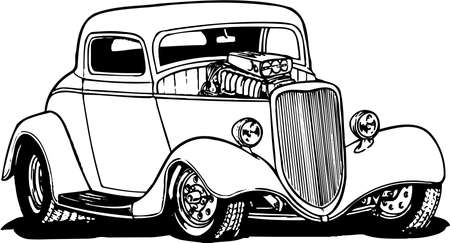 Illustration for Hot Rod Illustration - Royalty Free Image