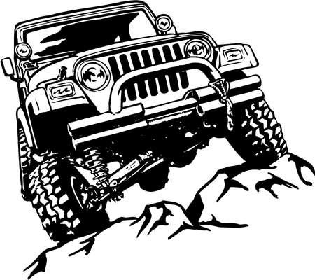 Photo pour Truck Climbing Illustration - image libre de droit