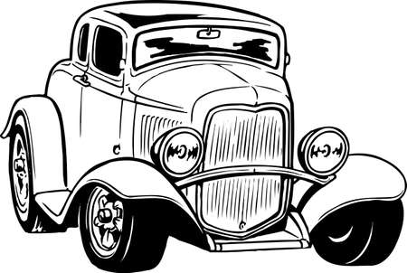 Illustration pour Antique Car Illustration - image libre de droit