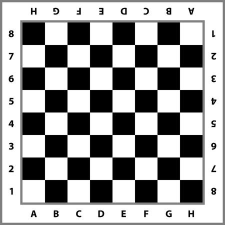Illustration pour Chessboard background. Empty chess board. Board for chess playing. Vector illustration. - image libre de droit