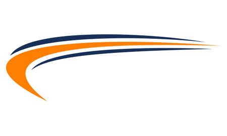 Ilustración de Swoosh template logo design concept. - Imagen libre de derechos