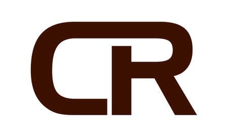 Letter CR modern icon on white background, vector illustration.