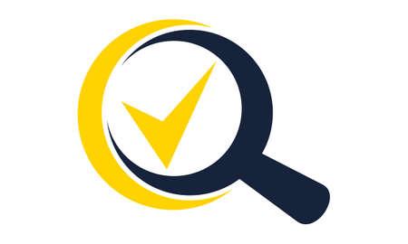 Illustration pour Searching verify - image libre de droit