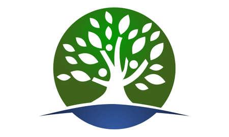 Ilustración de Tree of life healing center - Imagen libre de derechos