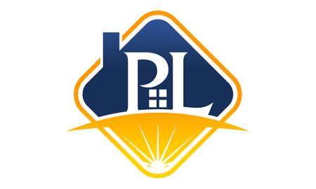 Letter PL Consulting Logo Vector illustration.