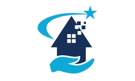 Illustration pour Success from Home logo Vector illustration. - image libre de droit