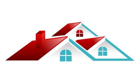 Ilustración de Real Estate Roof Vector - Imagen libre de derechos