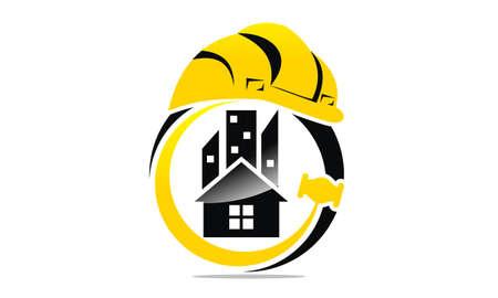 Photo pour Engineer real estate logo concept design template. - image libre de droit