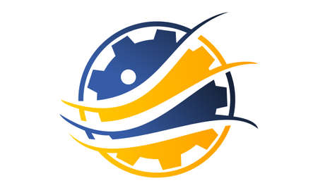 Gear Solution Logo Design Template Vector