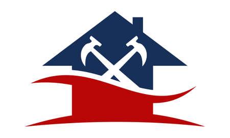 Photo pour Home Repair Construction logo template - image libre de droit