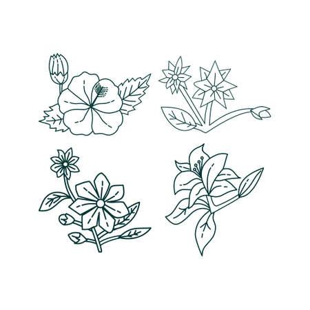 Illustration pour Flower Leaf Illustration Design Template Vector - image libre de droit